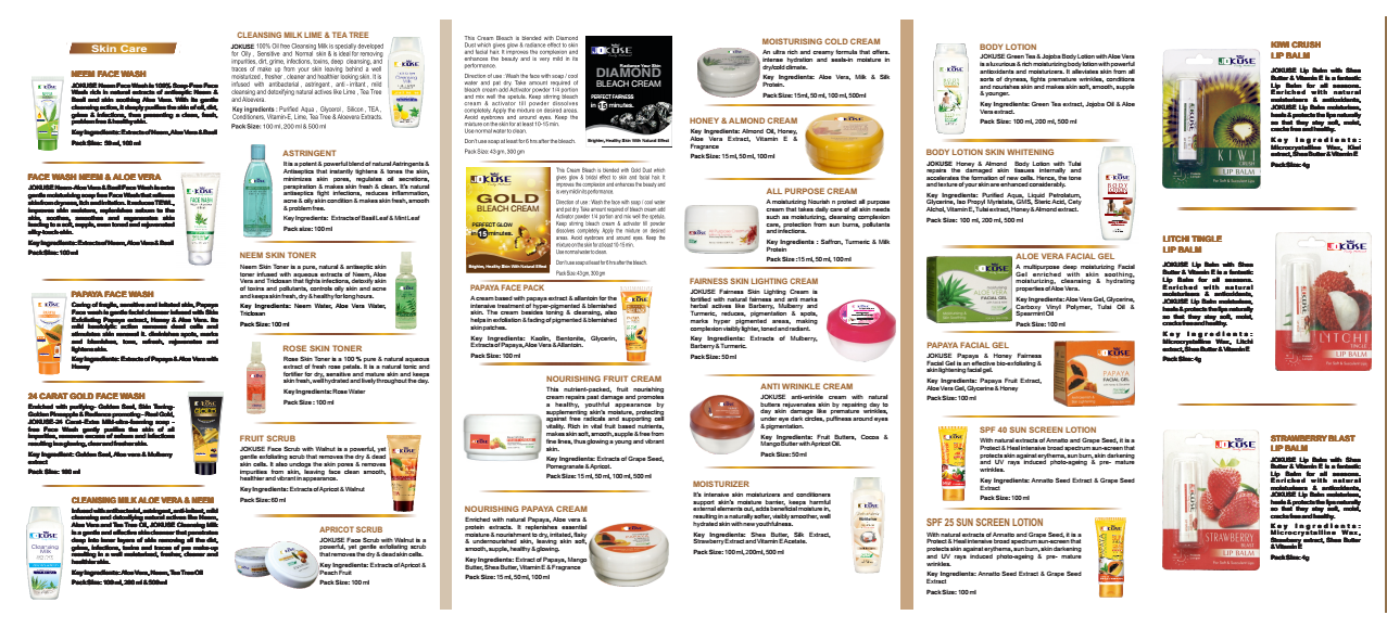 Mac Personal Care Catelogue & Leaflet